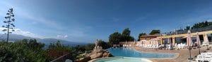 Camping L'esplanade : Restaurant Piscine vue panoramique - Camping Propriano