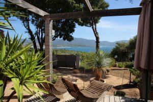 Camping L'esplanade : Vue depuis chalet - Camping Propriano