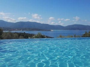 Camping L'esplanade : Piscine vue panoramique - Camping Propriano